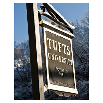 tufts university sign